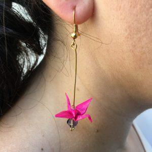 Boucles d'oreille GRUES LONGUES