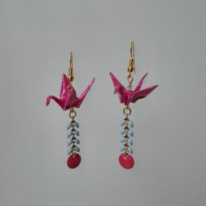 Boucles d'oreille GRUES SEQUINS