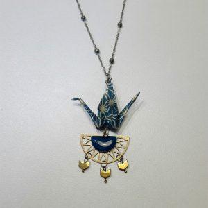 Collier AZTEQUE bleu nuit