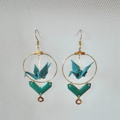 Créoles HELENA Turquoise