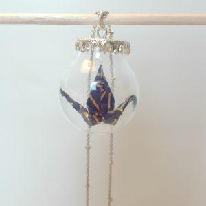 Sautoir BOULE VERRE Bleu