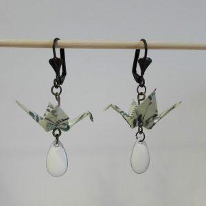 Boucles d'oreille GRUE GOUTELETTE Blanc