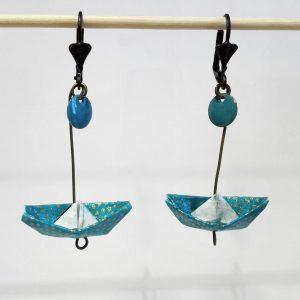 Boucles d'oreille BATEAU Turquoise