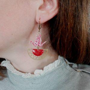 Boucles d'oreille AZTEQUE rouge