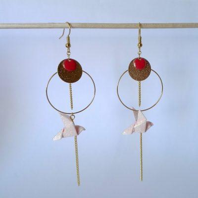 Boucles d'oreille MYAZAKI rose