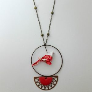 Collier TOTTORI rouge