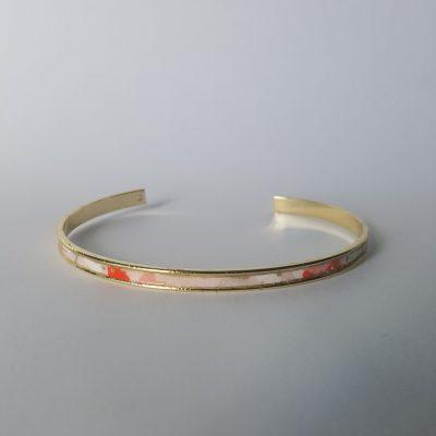 Bracelet manchette MAIKO doré rose